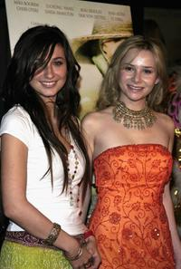 Katie Kramer and Mika Boorem at the premiere of