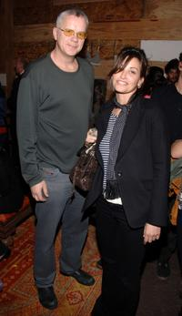 Gina Gershon and Tim Robbins at the Nest Foundation Benefit in New York City.
