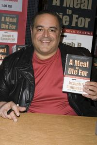 Joseph R. Gannascoli at the signing of his new book