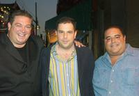 Alex Corrado , Director David Adler and Joseph R. Gannascoli at the launch party of