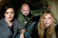 Nora Jane Noone, Director Neil Marshall and Shauna MacDonald at the 2006 Sundance Film Festival.