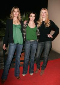 Saskia Mulder, Nora-Jane Noone and Shauna MacDonald at the premiere of
