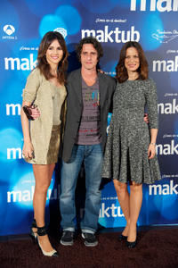 Goya Toledo, Diego Peretti and Aitana Sanchez Gijon at the photocall of