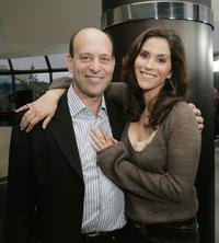 Jami Gertz and Oppenheim at the premiere of