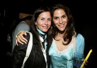 Jami Gertz and Courteney Cox Arquette at the
