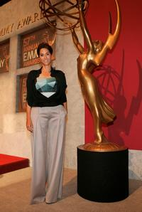 Jami Gertz at the 57th Annual Primetime Emmy Awards Nominations at the Academy of Television, Arts and Sciences.