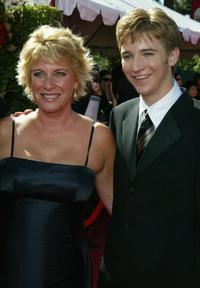 Barbara Hall and Michael Welch at the 56th Annual Primetime Emmy Awards.