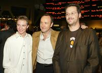 Michael Welch, Kevin Spacey and Writer/Director Matthew Ryan Hoge at the premiere of
