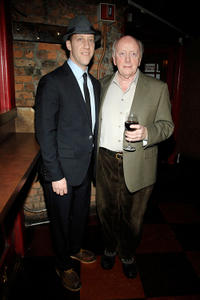 Joey Slotnick and Peter Maloney at the after party of Off-Broadway opening night of
