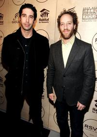David Schwimmer and Joey Slotnick at the Kenneth Coles R.S.V.P. to HELP benefit.