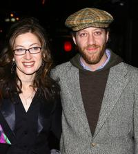 Director Annabelle Gurwitch and Joey Slotnick at the theatrical premiere party of