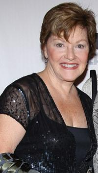 Helen Carey at the curtain call of the opening night of
