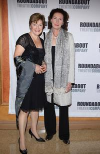 Helen Carey and Brenda Wehle at the opening night of Pygmalion.