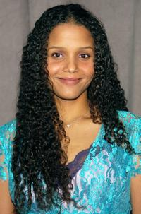 Sydney Tamiia Poitier at the announcement of United Paramount Network's (UPN) 2002-2003 primetime schedule of series.