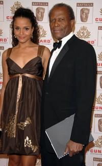 Sydney Tamiia Poitier and Sidney Poitier at the 15th Annual British Academy of Film and Television Arts Los Angeles Britannia Awards.