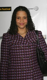 Sydney Tamiia Poitier at the premiere of