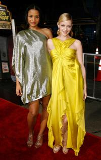 Sydney Tamiia Poitier and Marley Shelton at the premiere of