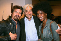 Josh Brolin, Howard Zinn and Leslie Silva at the after party of the Celebrity Reading of