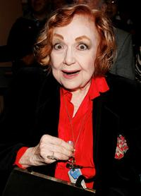 Edie Adams at the premiere book signing of Ben Alba's