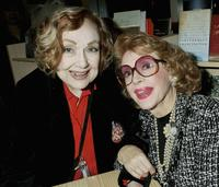 Edie Adams and Jayne Meadows at the premiere book signing of Ben Alba's