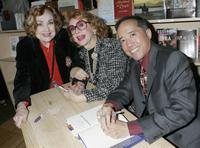 Edie Adams, Ben Alba and Jayne Meadows at the premiere book signing of Ben Alba's