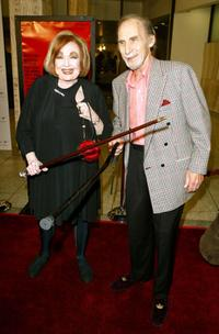 Edie Adams and Sid Caesar at the 40th Anniversary screening of the