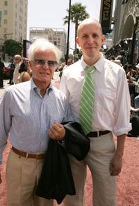 Producer Richard D. Zanuck and John August at the premiere of