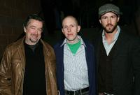 Geoffrey Gilmore, John August and Ryan Reynolds at the premiere of