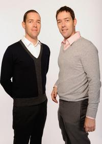 Michael Polish and Mark Polish at the DIRECTV Tribeca Press Center.