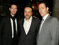 Michael Polish, Len Amato and Mark Polish at the premiere of