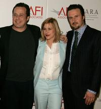 Richmond Arquette, Patricia Arquette and David Arquette at the AFI Associates luncheon.