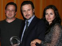 Richmond Arquette, David Arquette and Courteney Cox Arquette at the AFI Associates luncheon.