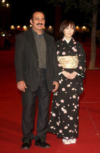 Director Abolfazl Jalili and Kumiko Aso at the premiere of