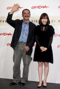 Director Abolfazl Jalili and Kumiko Aso at the photocall of