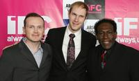 Pat Healy, Craig Zobel and Kene Holliday at the IFC party.