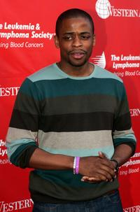 Dule Hill at the Inaugural Celebrity Rock N Bowl Event.