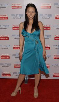 Linda Kim at the Playstation 2 Hotel grand opening.