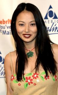 Linda Kim at the America Online party to launch its 2002