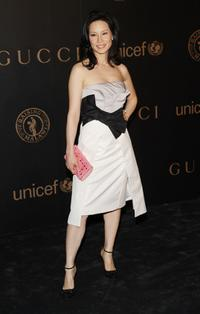 Lucy Liu at the reception to benefit UNICEF.