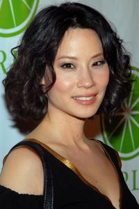 Lucy Liu at the Gap's new shoe shop launch.