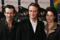 Ulrich Matthes, August Diehl and Bibiana Beglau at the world premiere of
