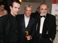 Ulrich Matthes, Henry Huebchen and Maximilian Schell at the German Film Awards.