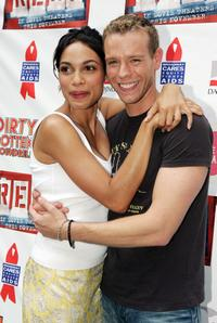 Rosario Dawson and Adam Pascal at the