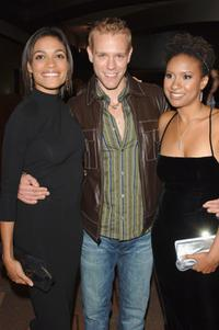 Rosario Dawson, Adam Pascal and Tracie Thoms at the Dinner of Champions