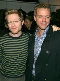 Anthony Rapp and Adam Pascal at the Bloomingdales to promote