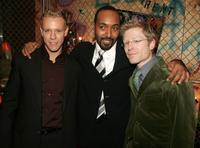 Adam Pascal, Jesse L. Martin and Anthony Rapp at the after party of the premiere of