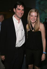 Thomas Gibson and Jennifer Finnegan at the CBS Stars Party.