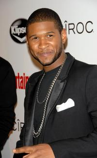 Usher Raymond at the Entertainment Weekly Grammy after party Toasting LA Reid.