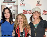 Christa Campbell, Julie Davis and Donnamarie Recco at the premiere of