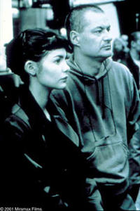 Audrey Tautou with Jean-Pierre Jeunet on the set of